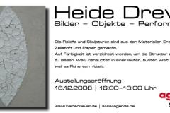 16.12.2008 - 23.01.2009: Heide Drever - Bilder Objekte Performance