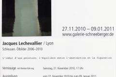 27.11.2010 - 09.01.2011: Jacques Lechevallier - Schleusen