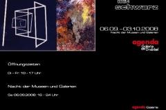 06.09.2008 - 03.10.2008: Karl Repfennig - malen mit schwarz
