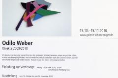 15.10.2010-15.11.2010: Odilo Weber - Objekte